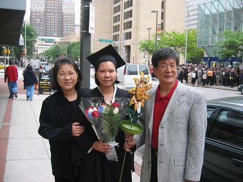 At Susie's graduation