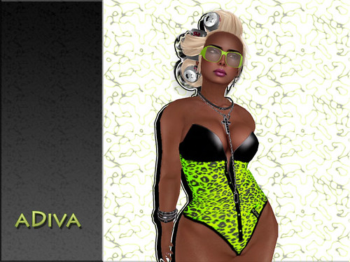 aDiva couture Cheetah Body Neon