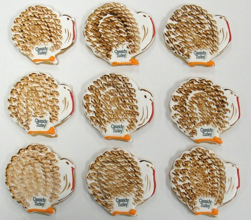 [Image from Flickr]:Flock of Turkey Logo cookies
