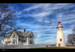 The $119 Dollar Shot (Theaterwiz) Tags: lighthouse museum vintage marblehead lakeerie sandusky photomatix sanduskybay canon1022efs canon7d 11exposures theaterwiz theaterwizphotography michaelcriswell
