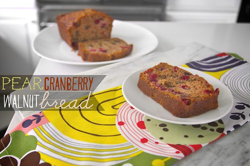 pear cranberry walnut bread