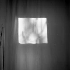 (Eli Craven) Tags: light bw white black 120 6x6 film window analog zeiss mediumformat square lens shower grey kodak curtain towel hasselblad covered 400 medium format 80mm 500cm