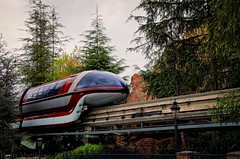 Another Monday, Another Monorail! (Brett I Matthews) Tags: california nikon disneyland disney monorail anaheim waltdisney monorailred d7000 nikond7000