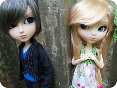 Nash & Nina (x_Jess) Tags: cute love fan dress romance bow pullip xiao gyro steampunk taeyang