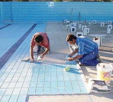 revestimiento ceramica piscina