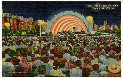 Grant Park Band Shell postcard_tatteredandlost