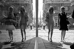 (Donato Buccella / sibemolle) Tags: street blackandwhite bw italy milan reflection girl mirror candid milano streetphotography cordusio viaorefici sibemolle