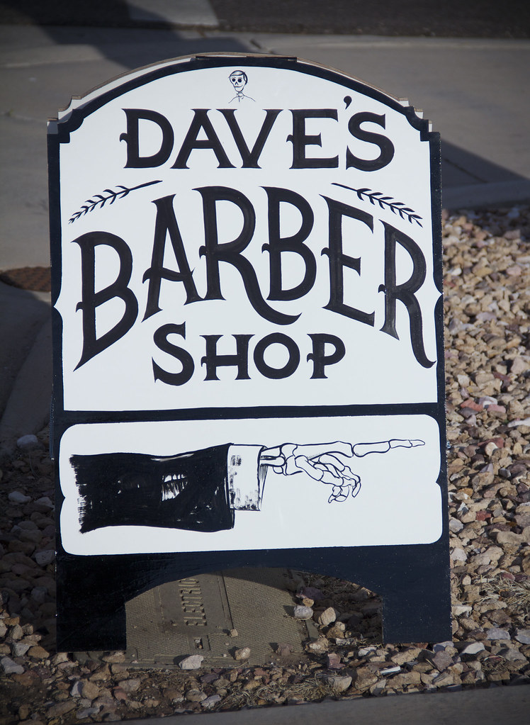 Daves Barber Shop A Fram Skelecule Side