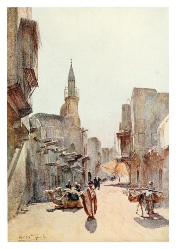 023-Una calle cerca de la Ciudadela en el Cairo-Below the cataracts (1907)- Walter Tyndale