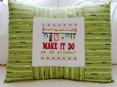 Make It Do (katedeerie) Tags: make sarah do jane embroidery heather sewing it pillow bailey picnik sham nicey