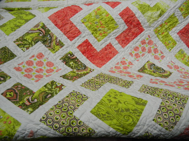 Alex's Garden Fence quilt - finished!