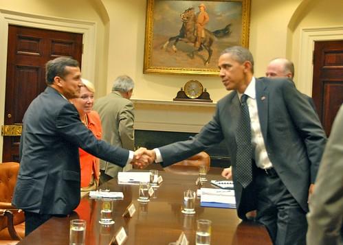 El presidente electo Ollanta Humala y Barack Obama se reunieron