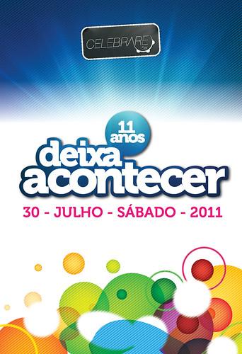 Banner Deixa Acontecer 11 Anos by chambe.com.br