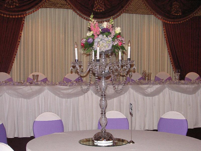 Crystal Candelabra Wedding Decorations