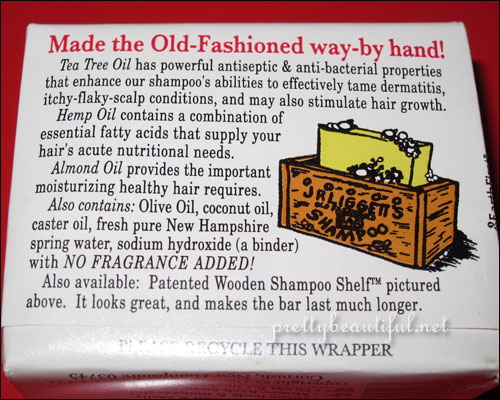 J.R. Liggett's, Old Fashioned Bar Shampoo with Tea Tree & Hemp Oil Ingredients