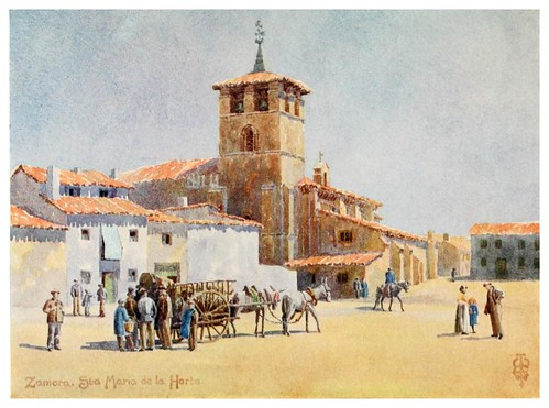 25-Zamora iglesia de Santa Maria de la Horta-Northern Spain painted and described-1906- Edgar Thomas Ainger