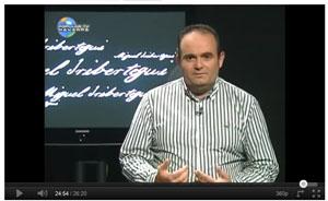 Miguel Iribertegui, en Popular Televisión Navarra
