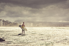 Lonely Surfer [Explored] (Jesper Blow) Tags: beach water canon surf waves oz surfer board wave australia dude explore qld queensland aussie surfersparadise goldcoast snapperrocks 24105mm 50d explored