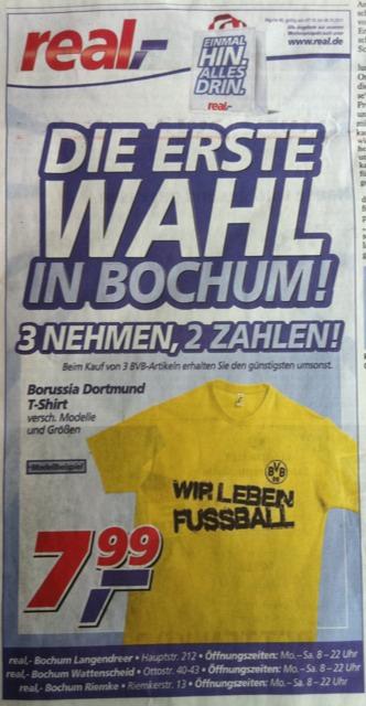 real-Werbung: Die erste Wahl in Bochum