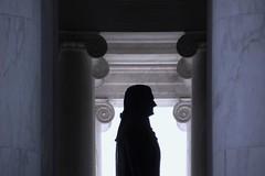 Jefferson (jcm715) Tags: blue shadow sculpture usa monument statue america temple washingtondc washington memorial unitedstates thomas president profile capitol jefferson column ionic capitalcity