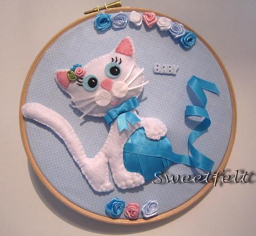 ♥♥♥ Miauuuu... também para meninas fofinhas! by sweetfelt \ ideias em feltro