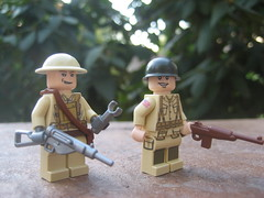World War (Da-Puma) Tags: world war lego m1 military stock helmet full ii figure sten custom mag proto carbine brickarms