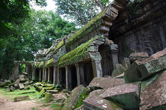 Temple ruins (chillveers15) Tags: trees ancient ruins cambodia pentax sigma jungle 1020mm angkor wat ta carvings prohm etchings kx aspara
