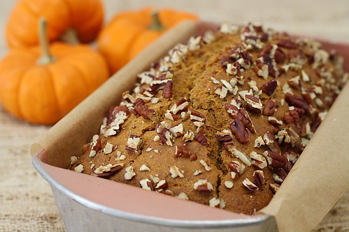 pumpkin bread up close