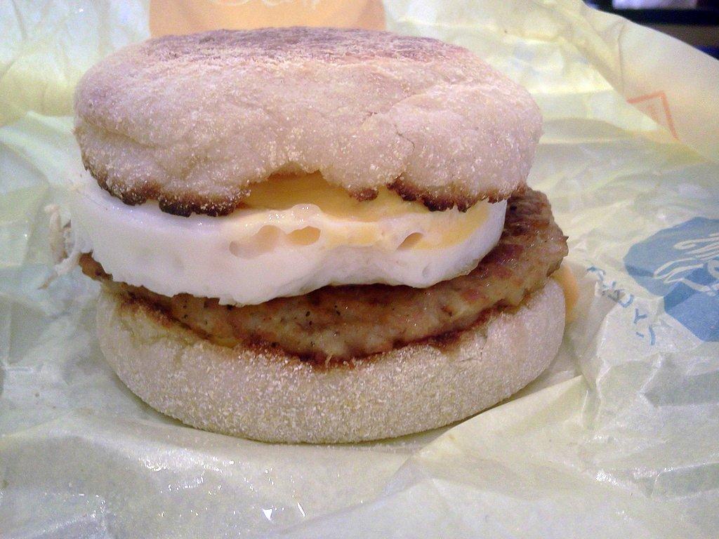 Sausage Egg McMuffin from Macdonalds @ ( near ) Asakusa Rox