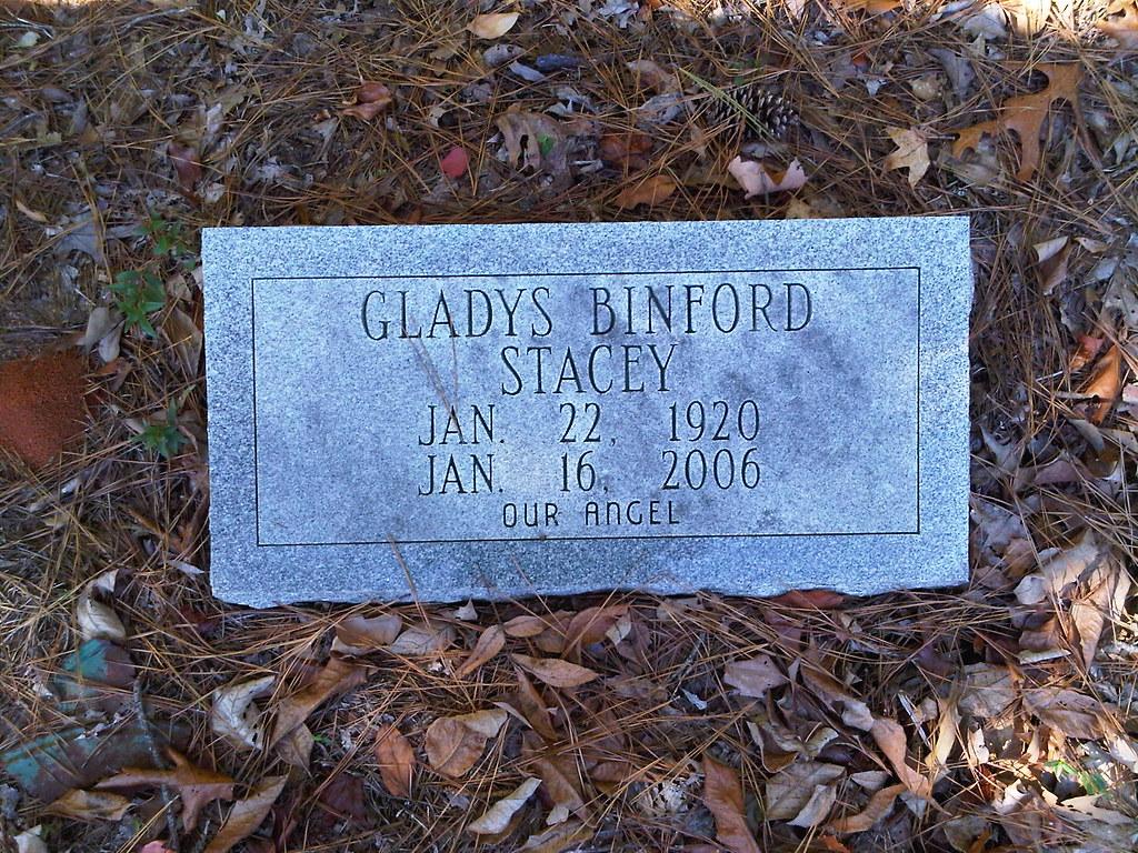 Gumm Cemetery Gladys Binford Stacey