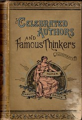 Celebrated Authors and Famous Thinkers (Peter Denton) Tags: typography book words letters 1800s literature lettering reward typographie 1895 englishlanguage schoolprize georgelock celebratedauthors famousthinkers wardlockandco plymouthschoolboard maudhunt ebenezerward