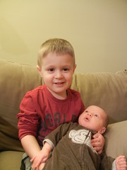 Big Brother Dominic with Leo