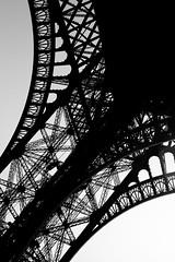 Iron Lace (Bart) Tags: blackandwhite bw white black paris france tower monument monochrome canon french eos blackwhite noir tour 28mm eiffeltower eiffel nb toureiffel 5d f18 blanc noirblanc mark2 canon28mmf18 canonef28mmf18usm ef28mmf18usm 5dmarkii 5dmark2 canonf28mmf18usm