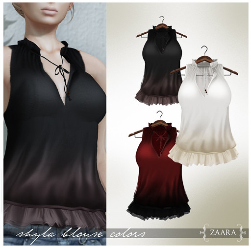 Zaara : Shyla Blouse colors 3