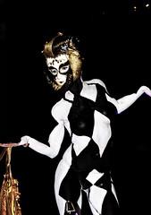 Extreme Cabaret Egyptian Harlequin (Eva Rinaldi Celebrity and Live Music Photographer) Tags: extreme cabaret egyptian harlequin human statue bodyart eva rinaldi hilton hotel zeta bar