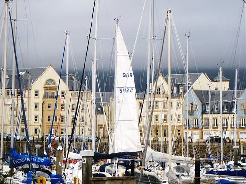 Sailboat Masts at Scotland's Boat Show