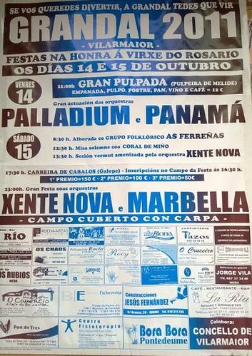 Vilarmaior 2011 - Festas do Rosario en Grandal - cartel