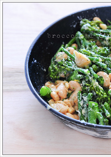 broccolini & pine nuts6