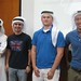 During the khaliji Dialect, we had a student teach the guys how to wear the khaliji head dress called (ghetra)
