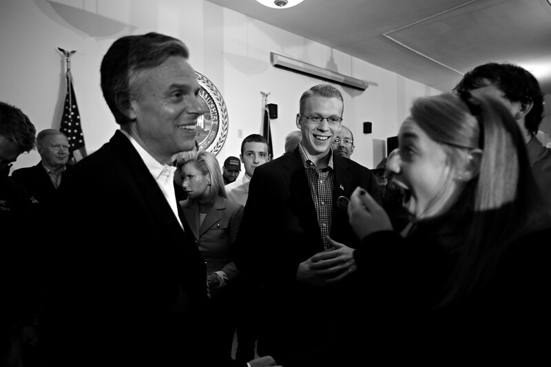 Huntsman at Hopkinton town hall