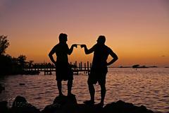 Sonnenuntergang auf den Florida Keys (Mampfred) Tags: usa strand america golf keys abend licht sand meer warm sonnenuntergang florida nacht marathon sommer insel amerika sonne schatten chillen mexiko atlantik palmen sd relaxen erholung sden sdlich ozean umris wrme ausspannen erholen inselgruppe