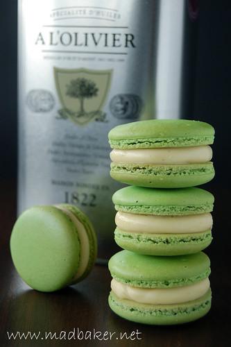Olive Oil Vanilla Macarons