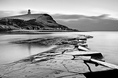 Across the ledge (Terry Yarrow) Tags: uk light sea england sky clouds canon landscape evening coast atmosphere dorset contrejour sunbeams kimmeridge ledges jurassiccoast eos5d competitionentry dorsetcoastpath takeaview landscapephotographeroftheyear