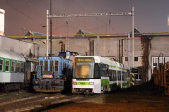 2009-12-26 Praha Tramway Nr.9103 (beranekp) Tags: czech prague tram depot tramway strassenbahn tatra tramvaj tranvia prah 9103 elektrika elektrika alina