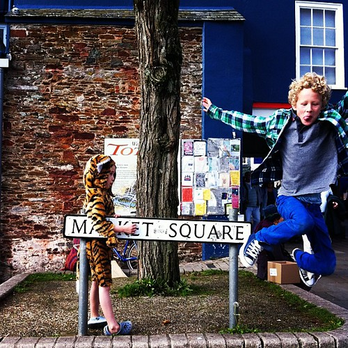 Market Square with tiger #totnes