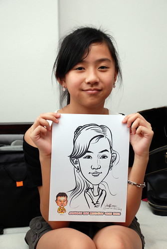 Caricature live sketching for Jonah's birthday party - 14