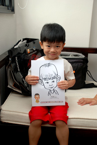 Caricature live sketching for Jonah's birthday party - 6