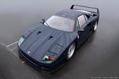 Broken Window (Chris Wevers) Tags: blue ferrari f40 pozzi nrburgring modenatrackdays chriswevers