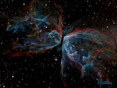 NGC 6302 Butterfly Nebula (alizeykhan) Tags: star space nasa nebula commission spaceart sspace spacepainting spacepaintings spacetuna spaceprint astronomicalillustration nebulapaintings astronomicalpainting