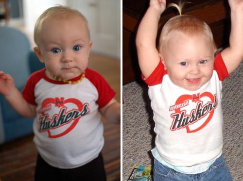 the littlest Husker fans